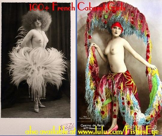 Product picture 100+ French Cabaret Girls - Vintage Postcard Album (PDF ebook)