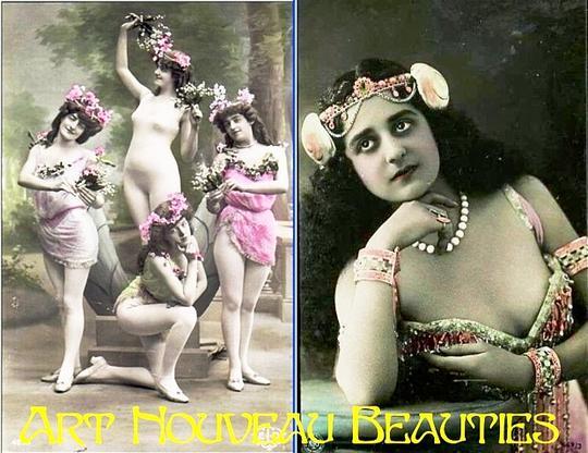 Product picture Art Nouveau Beauties - PDF Vintage Postcard Album / Slideshow