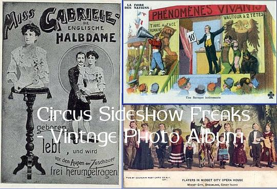 Product picture Circus Sideshow Freaks - Vintage Photo Album (PDF ebook)