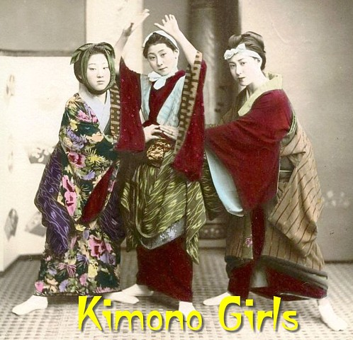 Product picture Kimono Girls - PDF Slideshow: Vintage Photos & Postcards