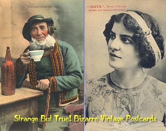 Product picture Strange But True! Bizarre Vintage Postcards (PDF ebook album)