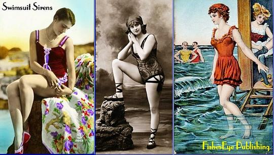 Product picture 100+ Early Swimsuit Sirens - Vintage Postcard Scrapbook